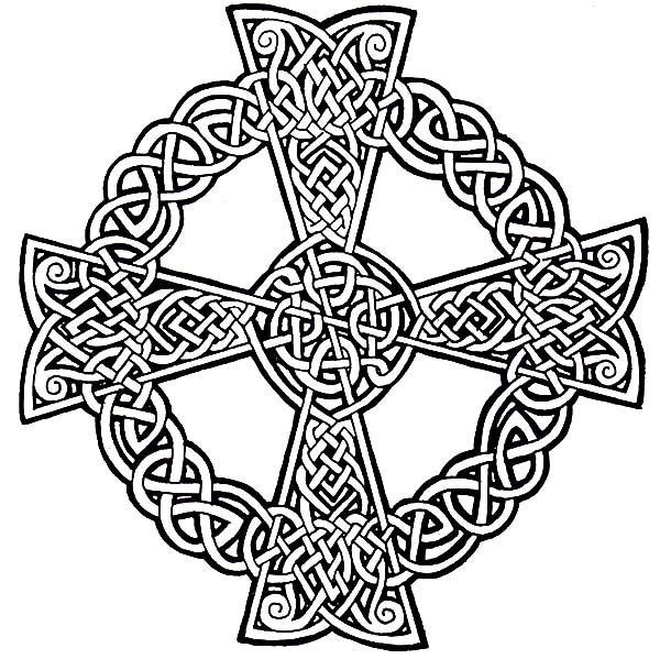 celtic coloring pages - celtic christian cross coloring pages 2