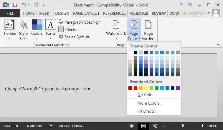 change background color in pages - how to change the background color in pages