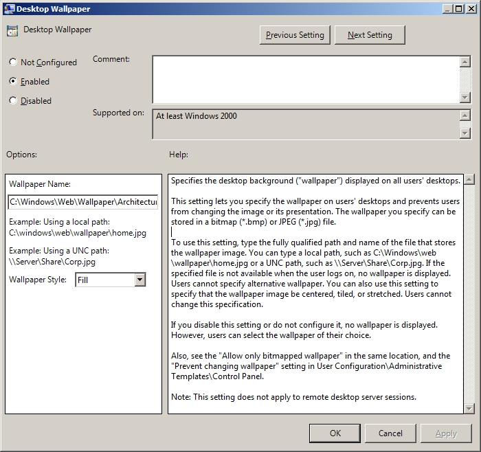 change page color in word - best practice using group policy to configure desktop wallpaper background