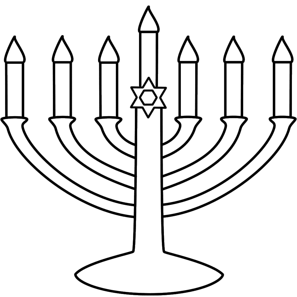 chanukah coloring pages - clipart McLkebkca