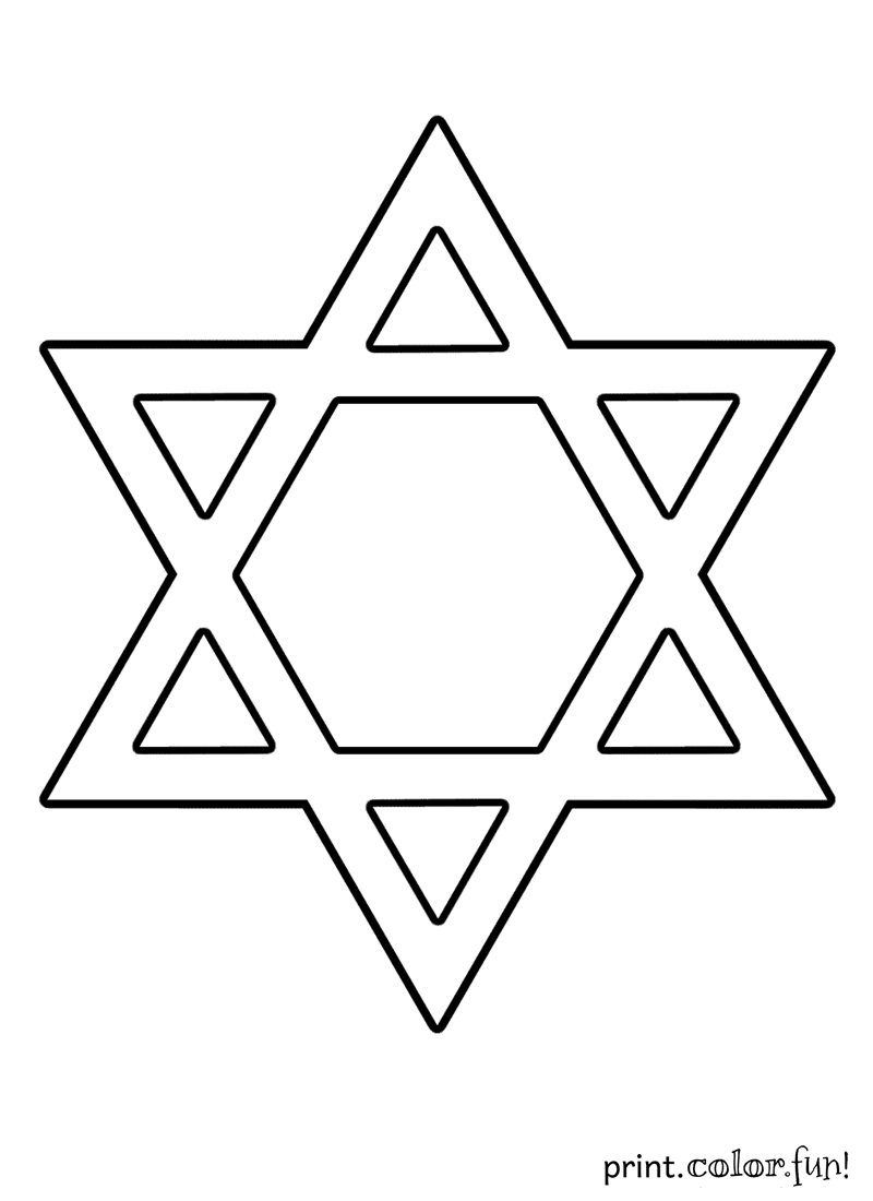 chanukah coloring pages - star of david