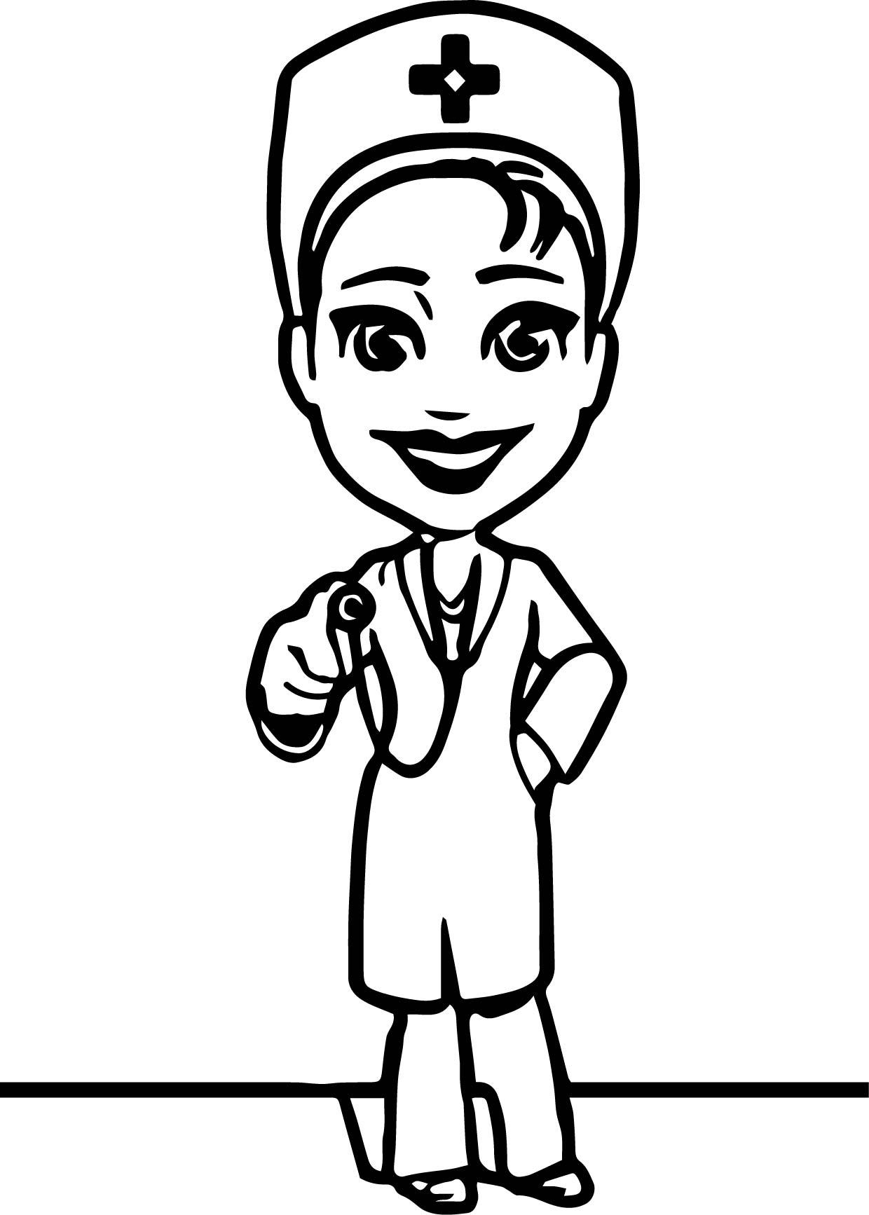 character coloring pages - female doctor character coloring page