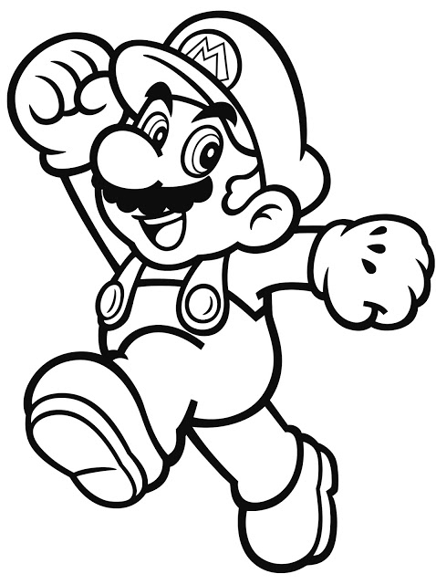 character coloring pages - nintendo launches coloring pages with characters mario