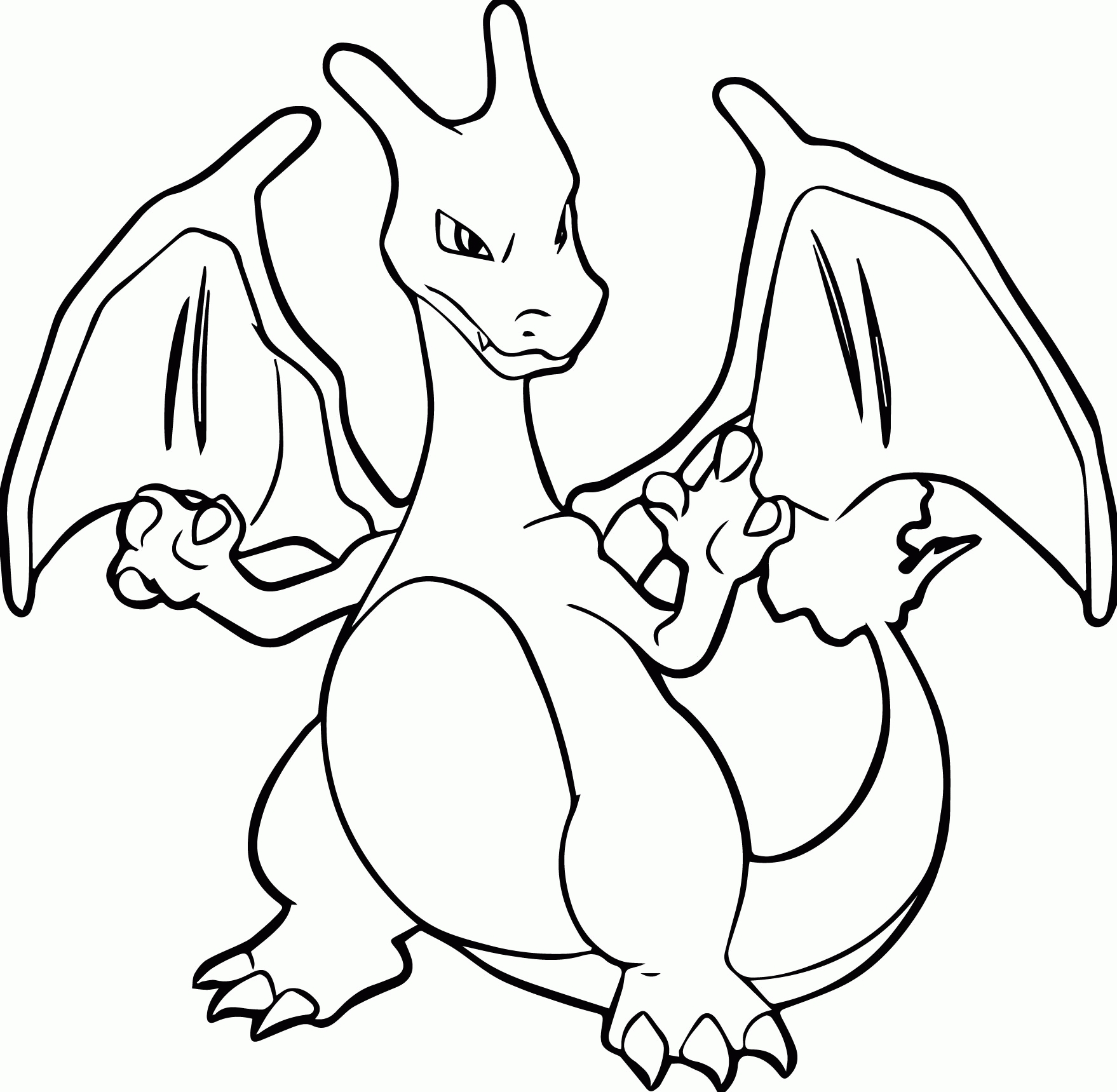 charizard coloring page - all pokemon charizard coloring page images
