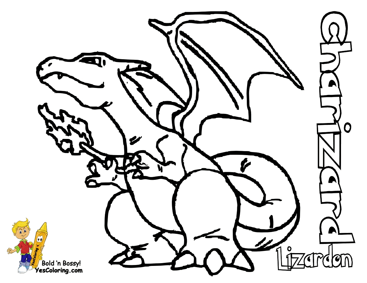charizard coloring page - pokemon coloring page charizard