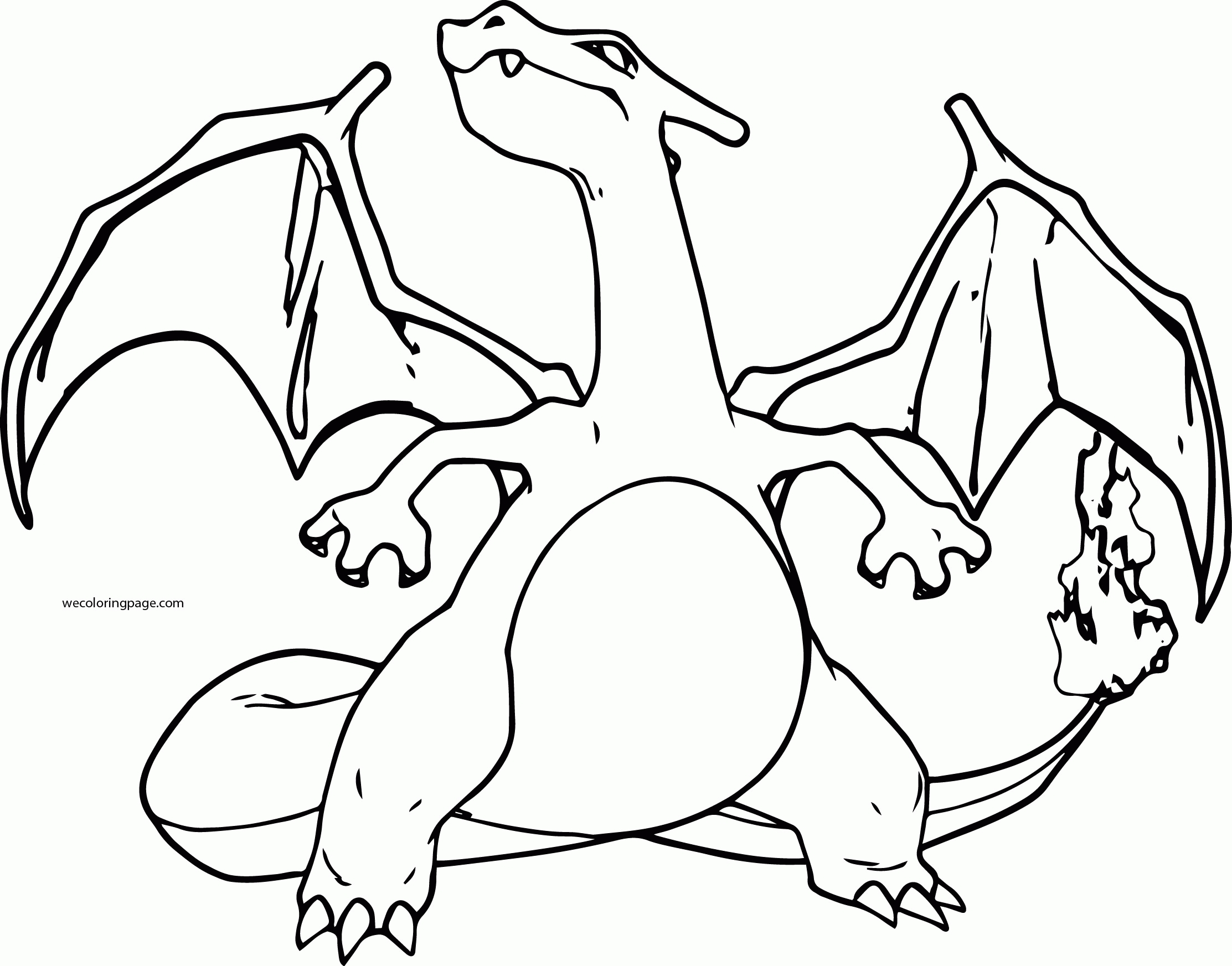 charizard coloring page - pokemon coloring pages mega charizard