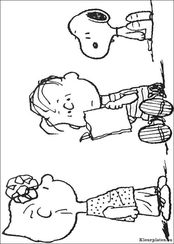 charlie brown thanksgiving coloring pages - snoopy kleurplaat