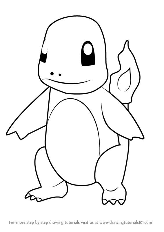 charmander coloring page - how to draw charmander from pokemon go
