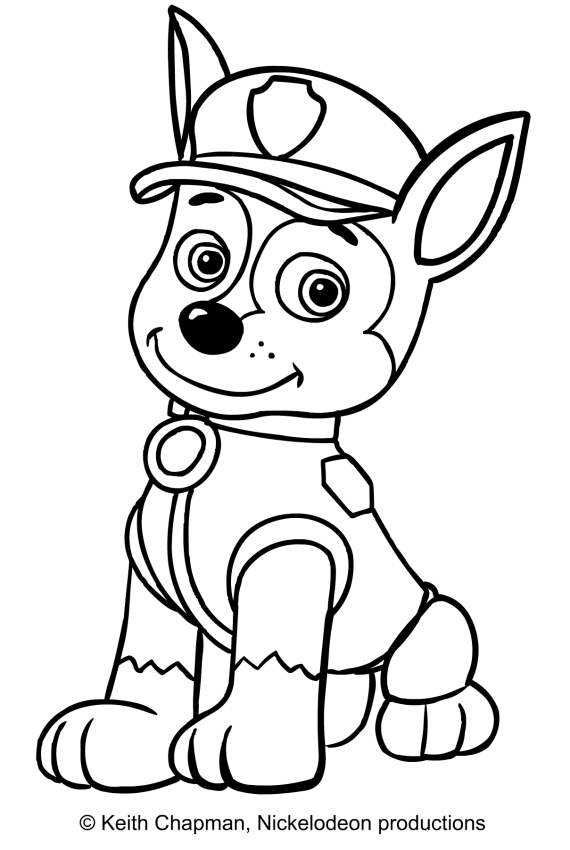 chase coloring page - chase colering