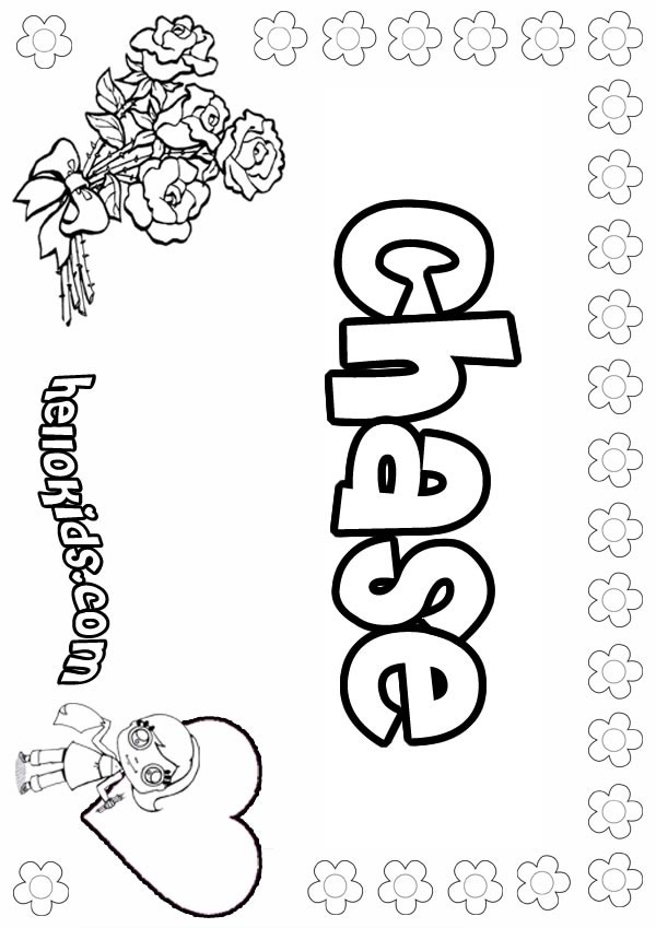 chase coloring page - chase