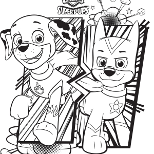 Chase Paw Patrol Coloring Page - 40 Unique Paw Patrol Coloring Pages