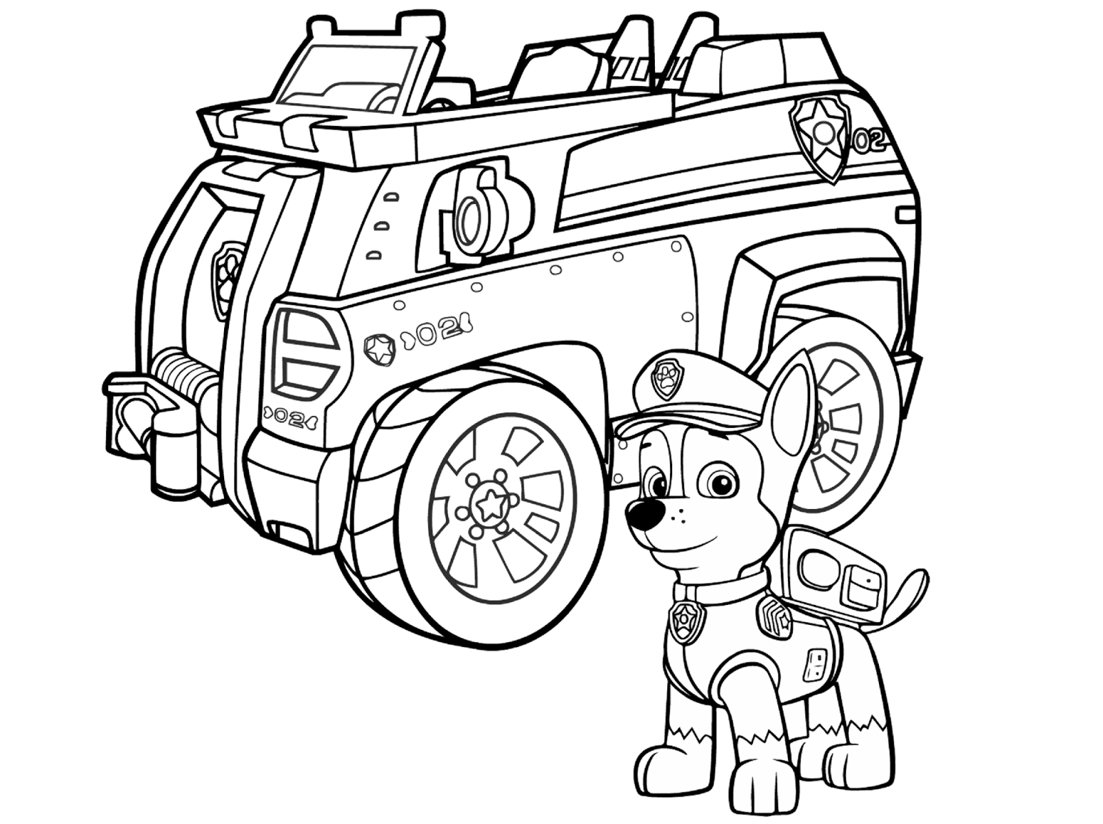 chase paw patrol coloring page - nickelodeon paw patrol chase coloring pages sketch templates
