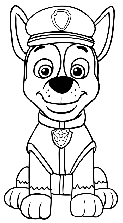 chase paw patrol coloring page - best paw patrol chase coloring pages 5990