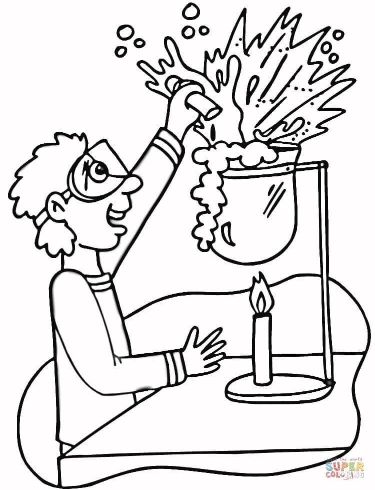chemistry coloring pages - chemistry laboratory