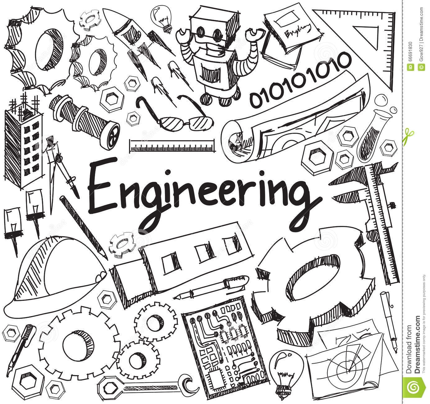 chemistry coloring pages - stock illustration mechanical electrical civil chemical other engineering ed education profession handwriting doodle icon tool sign symbol image