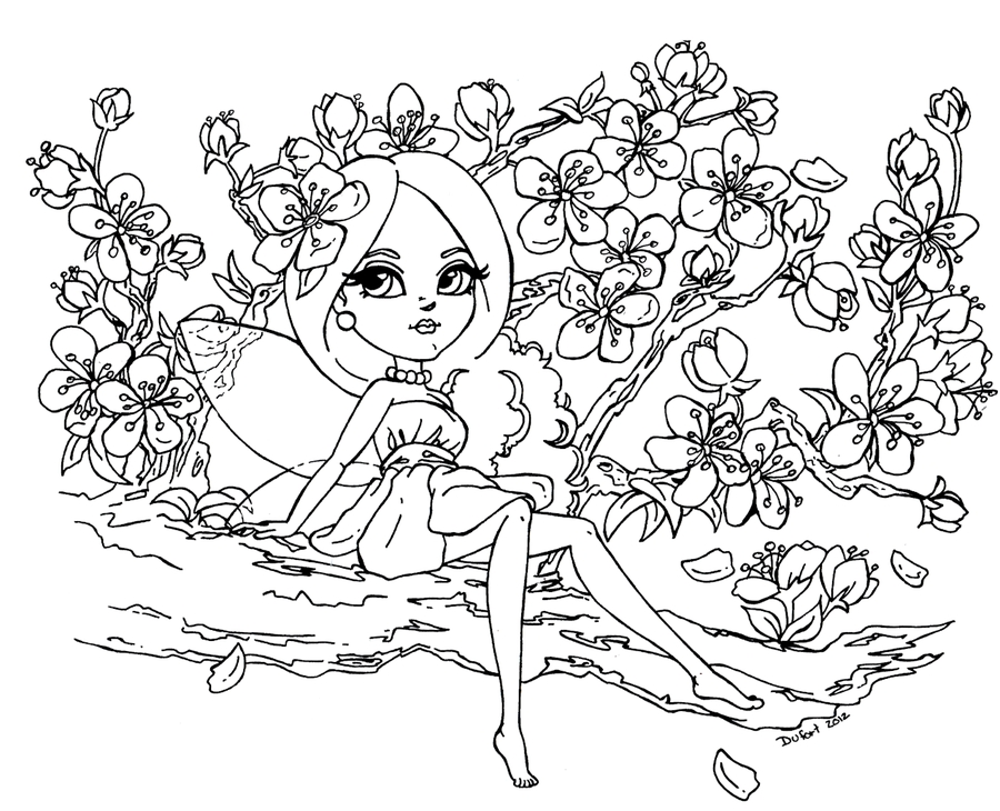 cherry blossom coloring page - cherry blossom coloring pages