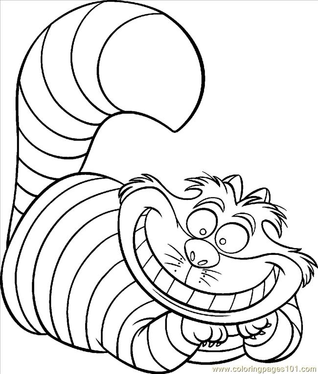 Cheshire Cat Coloring Pages - Coloring Pages Cheshire Cat Color Animals Cats Free
