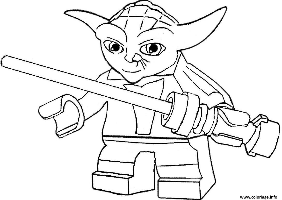 chewbacca coloring pages - yoda lego stars wars coloriage