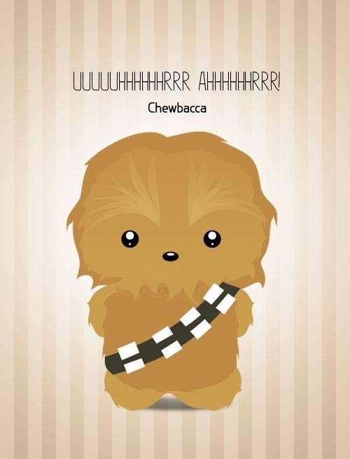 chewbacca coloring pages - cute chewbacca