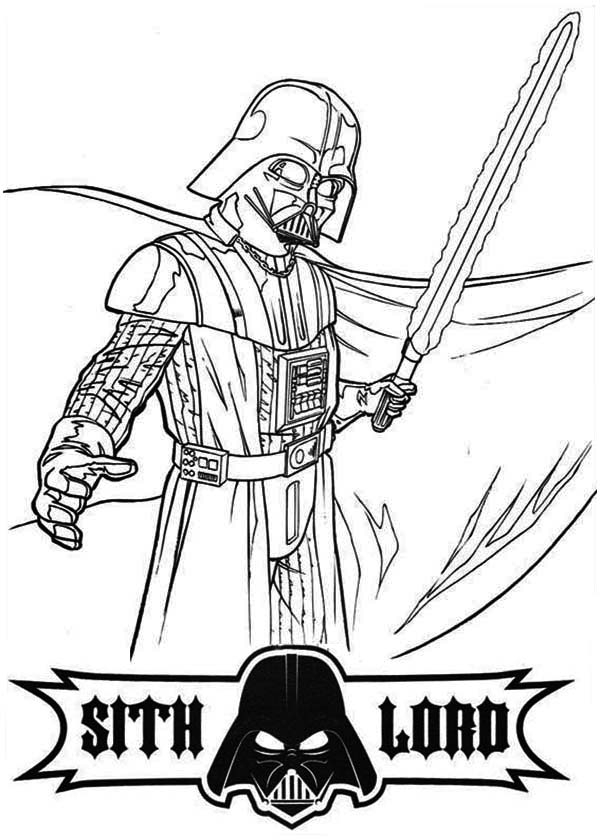 chewbacca coloring pages - darth vader is so angry in star wars coloring page 2