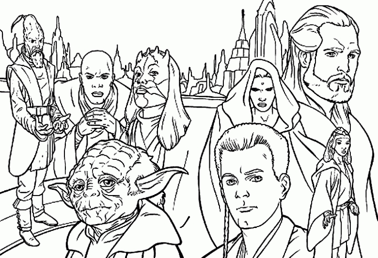 chewbacca coloring pages - yoda 6