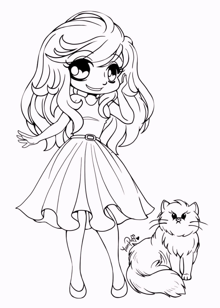 chibi girl coloring pages - cute chibi coloring pages for your little girls