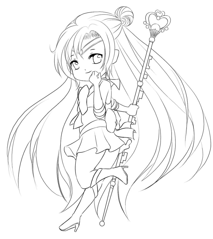 chibi girl coloring pages - chibi coloring pages