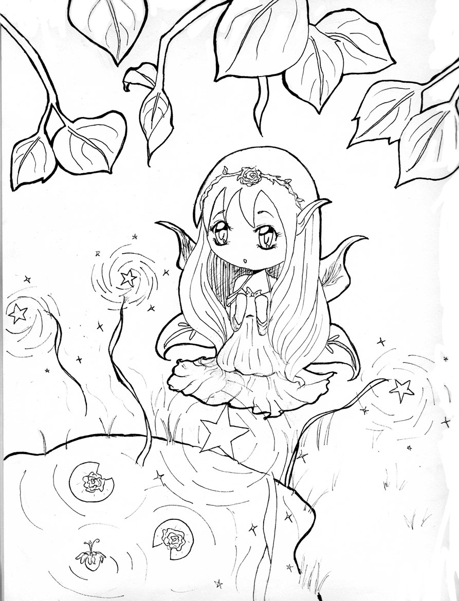 chibi girl coloring pages chibi coloring pages - Girl Coloring Pages 2