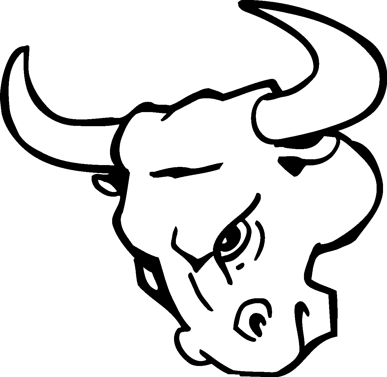 chicago bulls coloring pages - bull head logo