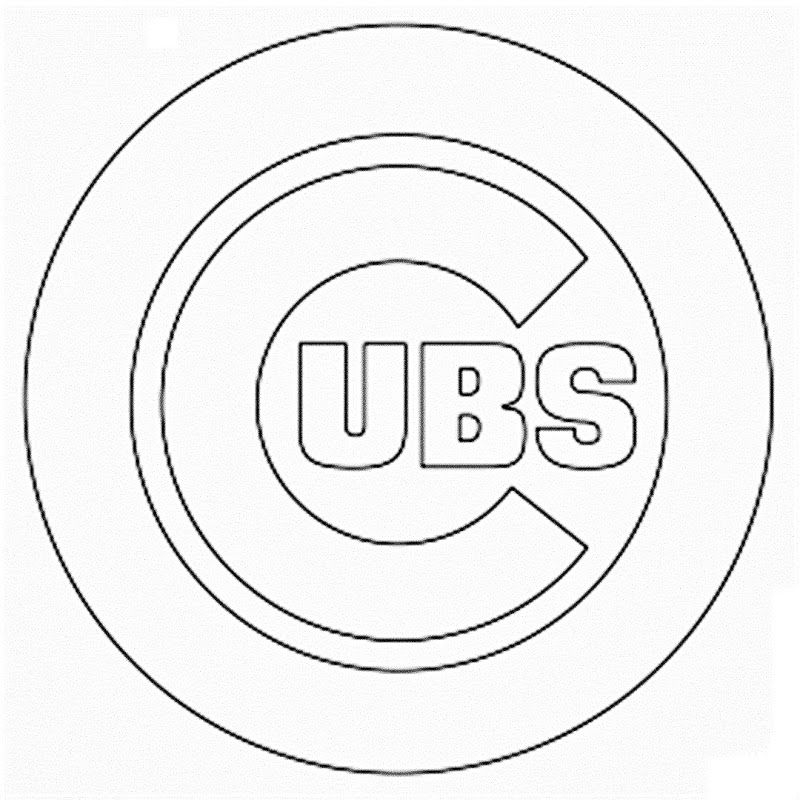 Chicago Cubs Coloring Pages - Chicago Cubs Coloring Pages Coloring Home