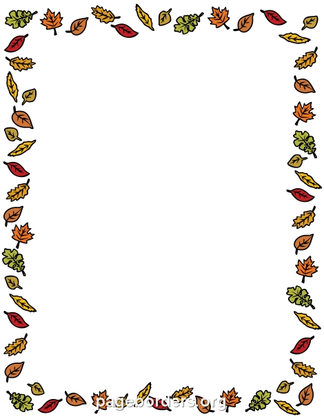 chicken coloring pages - fall border clipart