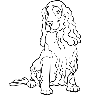 chihuahua coloring pages - coloriage chien cocker