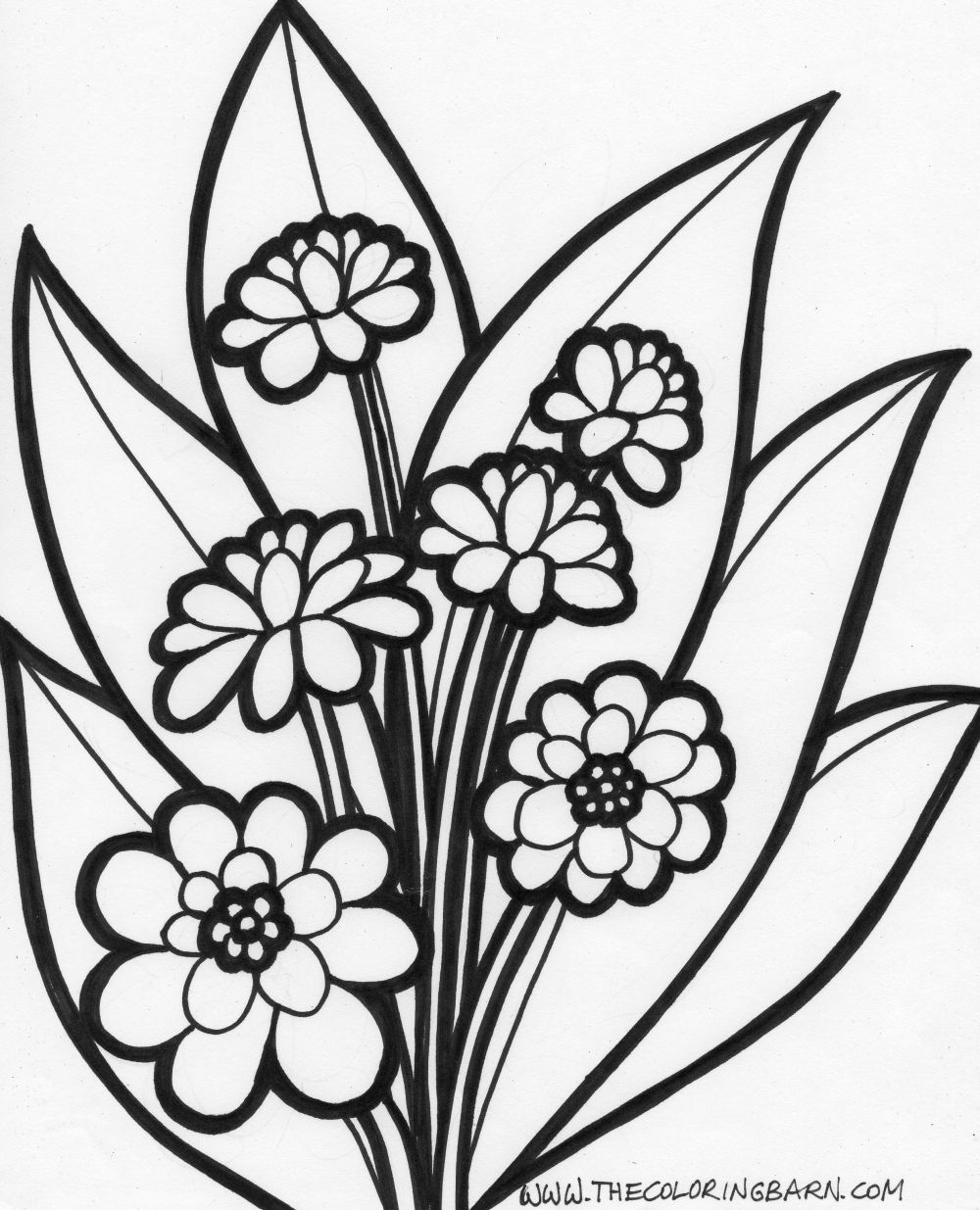children coloring pages - coloring pages with flowers free coloring pages of flowers coloring kids coloring pages
