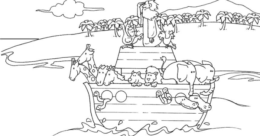 children's bible coloring pages - 17 best noahs ark coloring pages
