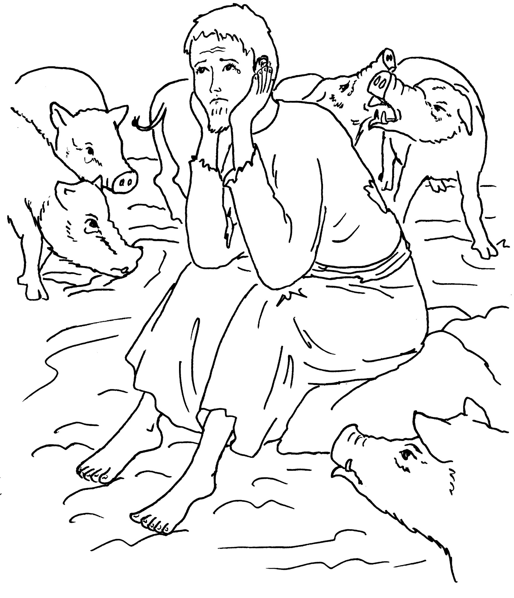 children's bible coloring pages - BRPI parab luc 15