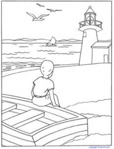 children's church coloring pages - Lighthouse Coloring Page – KinderArt
