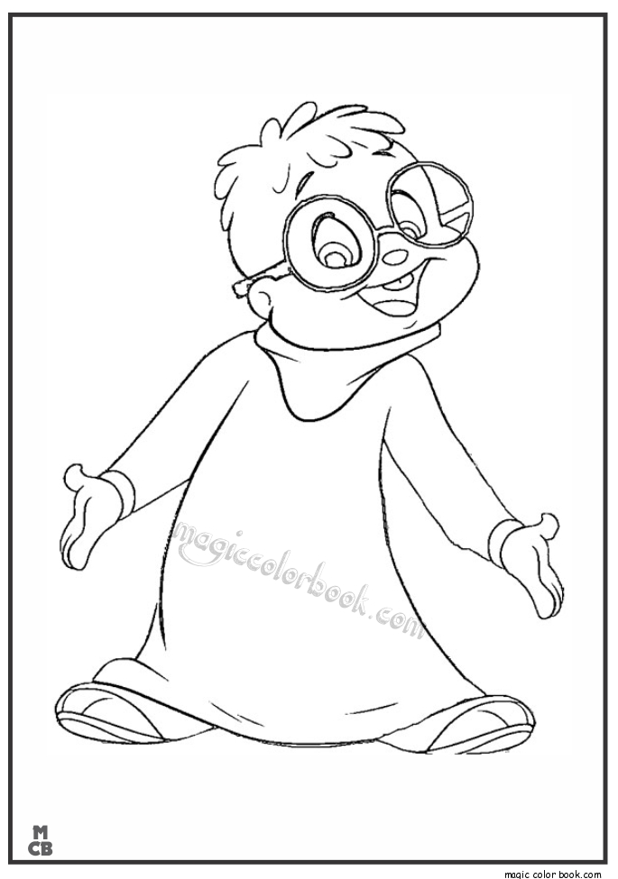 chipmunk coloring pages - alvin and the chipmunks coloring page