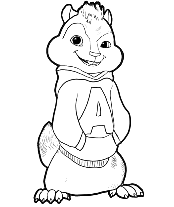 chipmunk coloring pages - alvin and the chipmunks coloring pages free