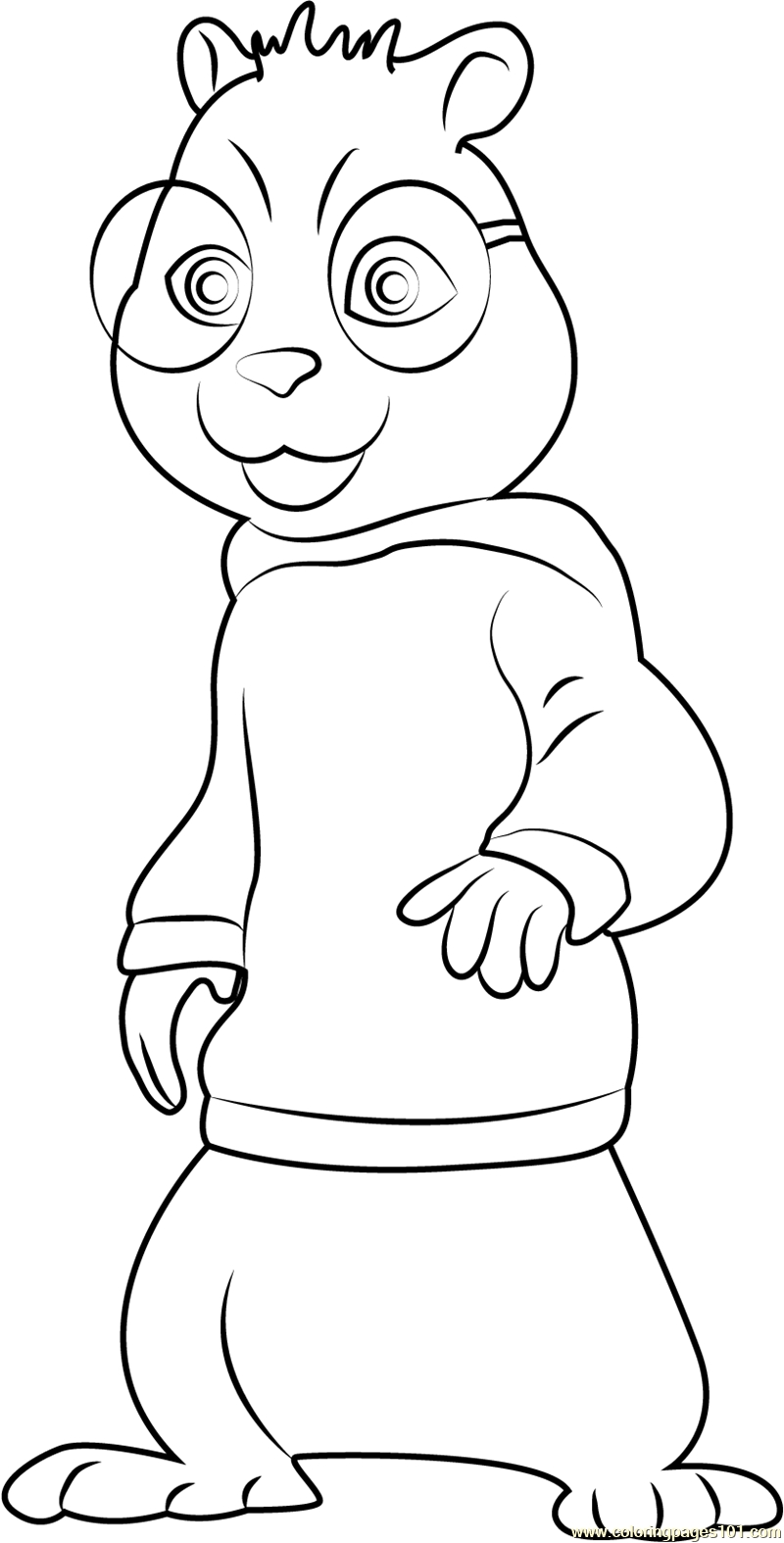 chipmunk coloring pages - chipmunks