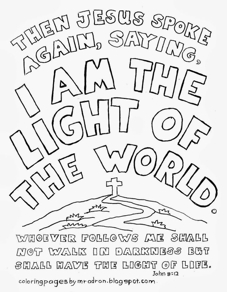christian adult coloring pages - jesus is the light of the world coloring page