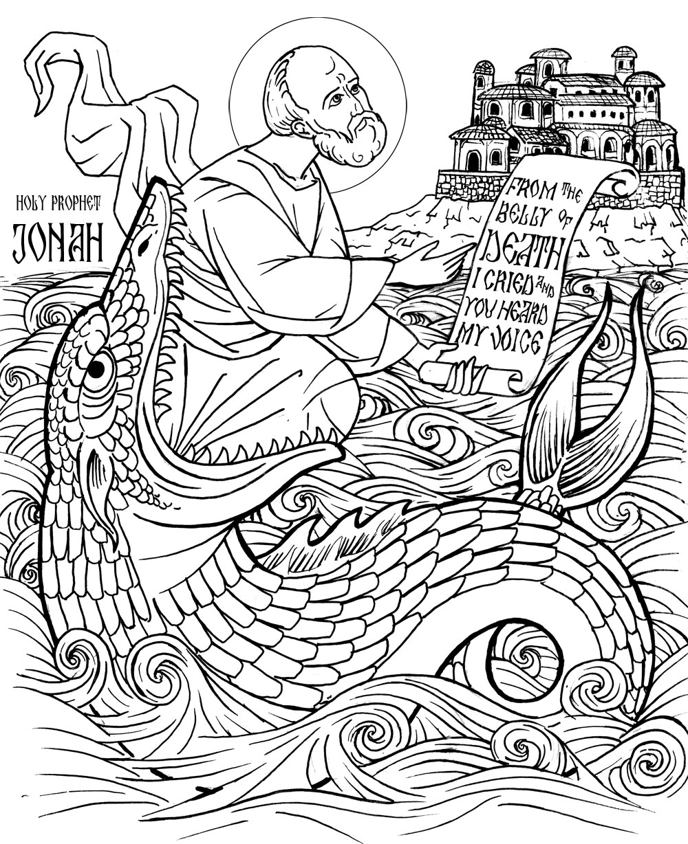 christian adult coloring pages - jonah