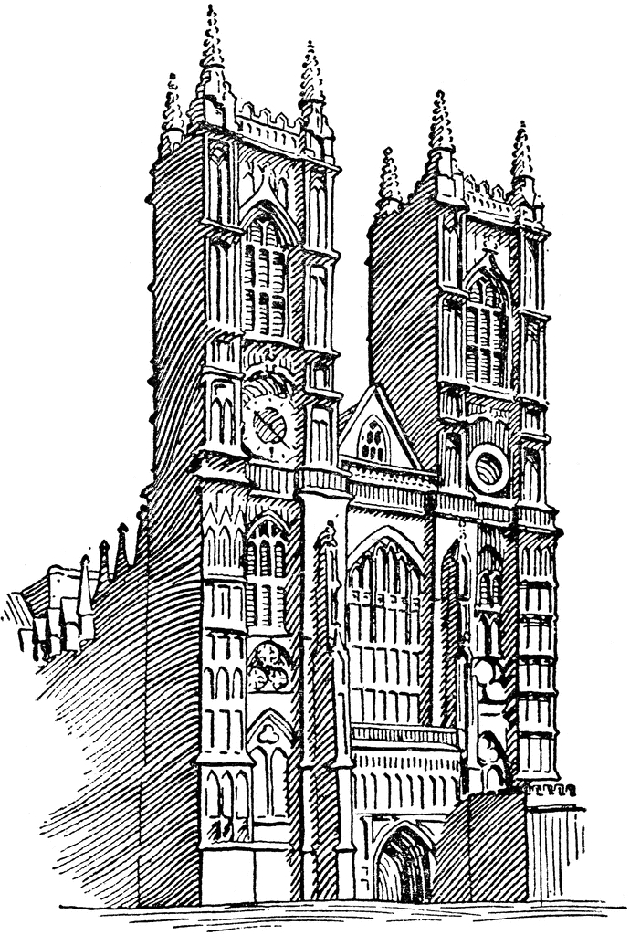 christian adult coloring pages - west abbey