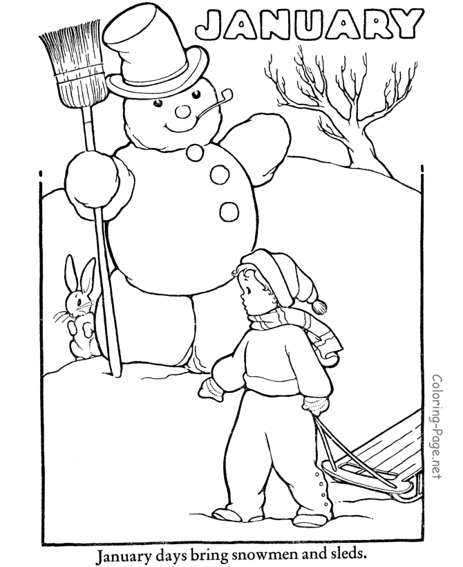 christian adult coloring pages - winter 04