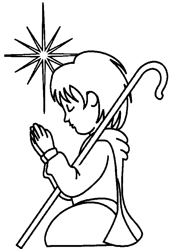 christian coloring pages - ShepherdBoy1