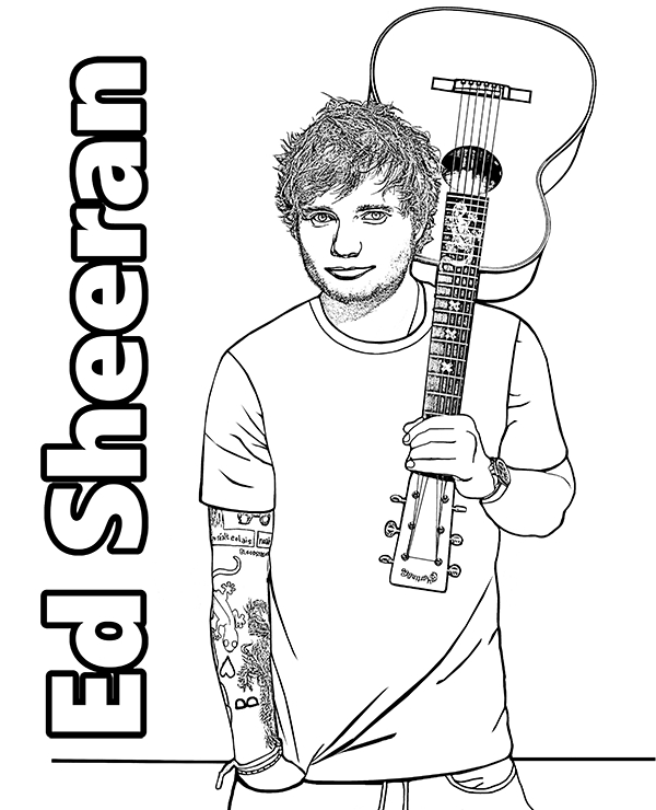 christian coloring pages - ed sheeran