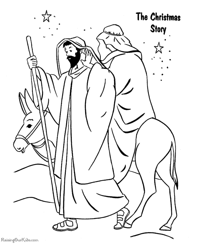christian coloring pages - free christian christmas coloring pages