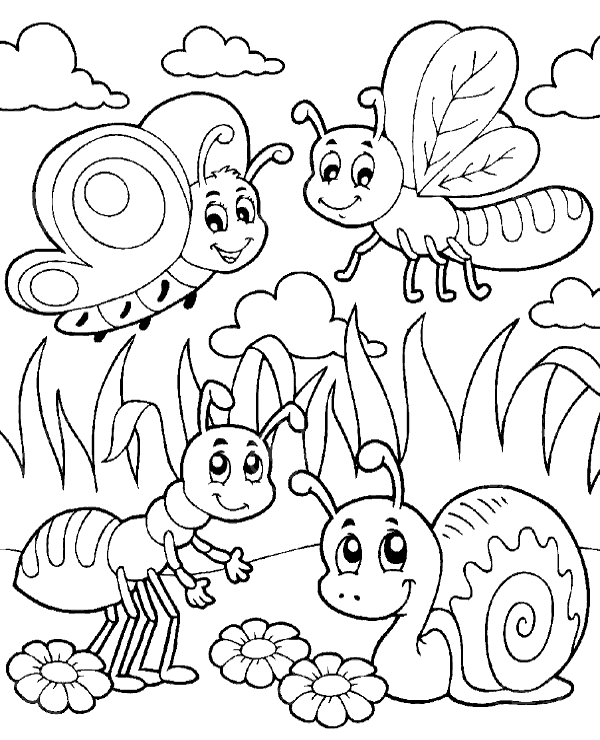 christian easter coloring pages - insects coloring page 22