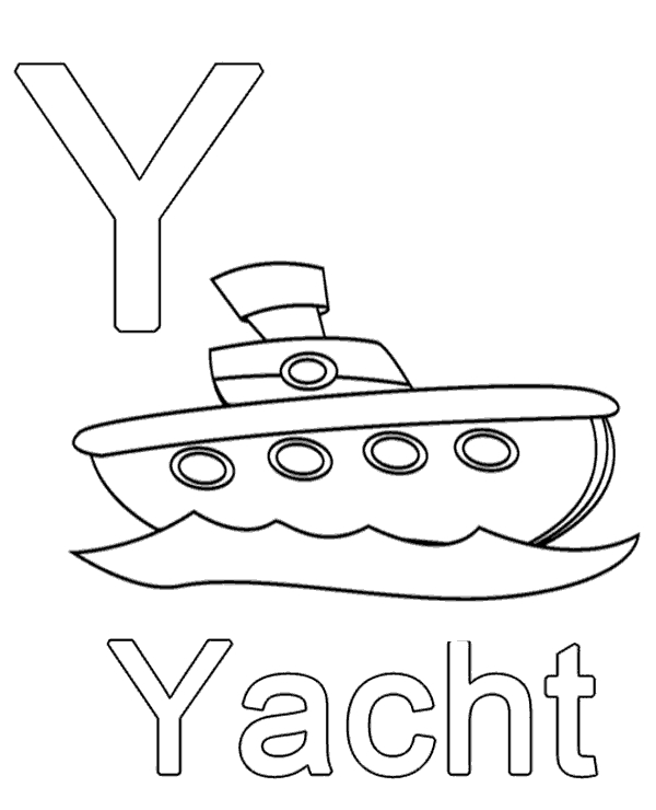 christian easter coloring pages - letter y