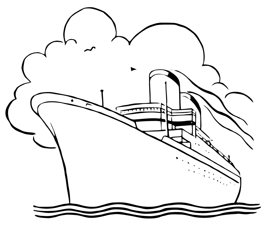 christopher columbus coloring page - boat clipart black and white