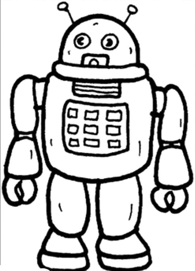 christopher columbus coloring page - pictures of robots to color